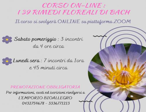 """Corso On line su Zoom : """"I 39 Rimedi Floreali di Bach"""""""